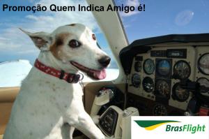 Promoção com crédito de R$ 50,00 em horas de voo na Escola de Aviação BrasFlight